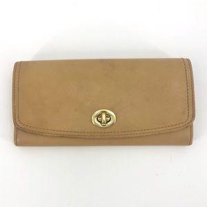 Coach Legacy Leather Slim Envelope Wallet Tan